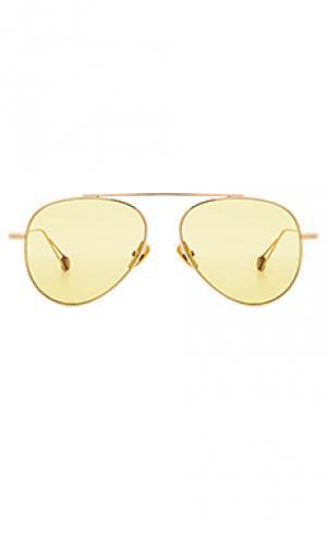 Солнцезащитные очки republique Ahlem. Цвет: металлический золотой