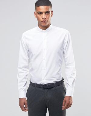 Number Eight Savile Row Рубашка с воротником застежкой на пуговицы. Цвет: белый