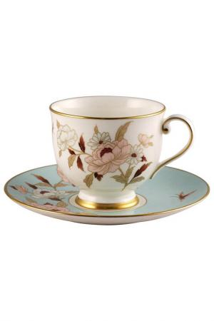 Набор 6 чайных пар Narumi. Цвет: белый