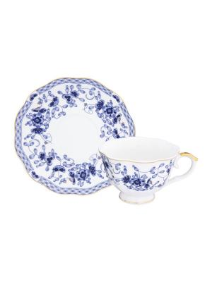Чайная пара Шарм Elan Gallery. Цвет: синий,белый