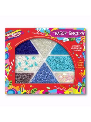 Набор бисера Морской бриз КРЕАТТО. Цвет: красный, белый, синий, голубой