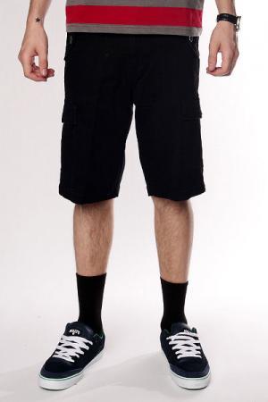 Классические мужские шорты  Thomas Signature Cargo Short Black Fallen. Цвет: черный