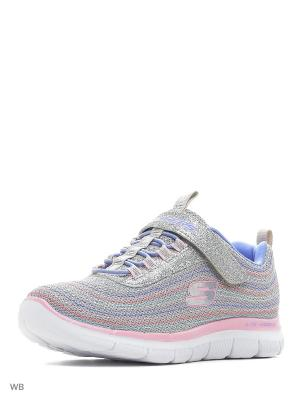 Кроссовки SKECHERS. Цвет: серый, голубой, розовый