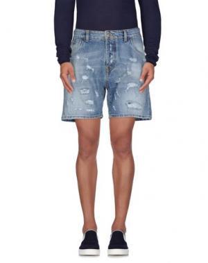 Джинсовые шорты YES LONDON. Цвет: синий