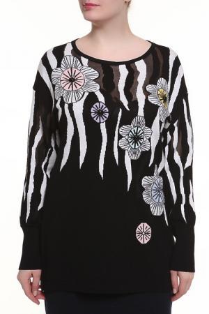 Джемпер Maria Grazia Severi. Цвет: черный, цветы