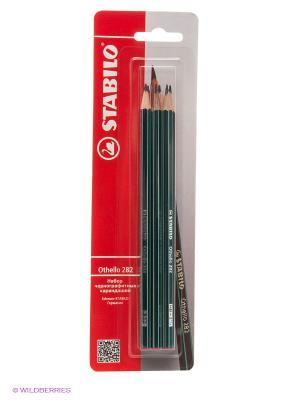 Набор карандашей, 6 шт. Stabilo. Цвет: красный
