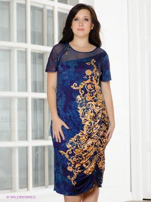 Платье VERDA. Цвет: фиолетовый, желтый