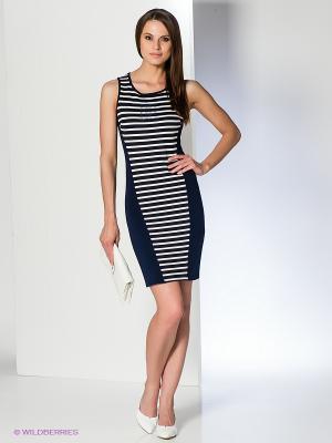 Платье Acasta. Цвет: темно-синий, белый
