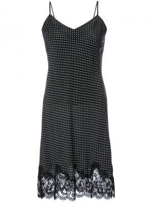 Платье-комбинация с кружевными вставками Gold Hawk. Цвет: чёрный