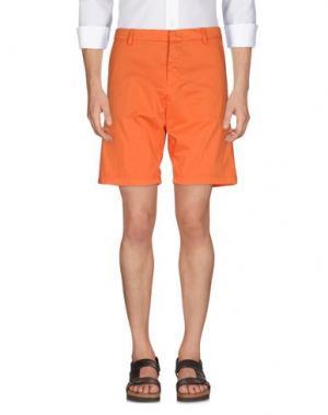 Бермуды GABARDINE. Цвет: оранжевый