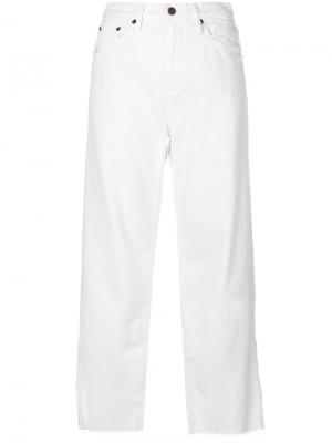 Укороченные брюки Simon Miller. Цвет: белый