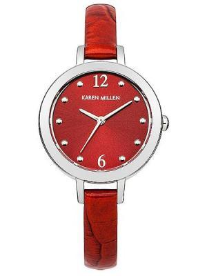 Часы KAREN MILLEN. Цвет: красный