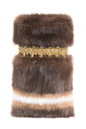 Норковый чехол для телефона 156067 Kaminsky. Цвет: коричневый