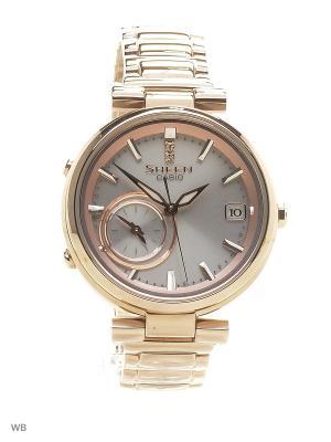 Часы Sheen SHB-100CG-4A CASIO. Цвет: золотистый, серебристый