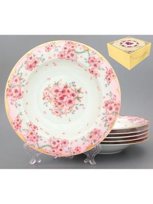 Набор суповых тарелок Сакура Elan Gallery. Цвет: розовый