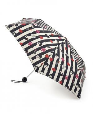 Зонт механический Лица  by Fulton Lulu Guinness. Цвет: multicolor