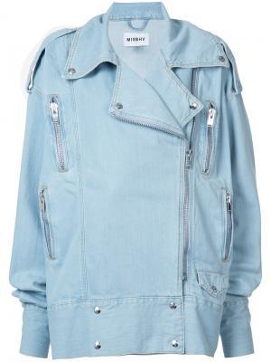 Свободная джинсовая куртка Misbhv. Цвет: синий