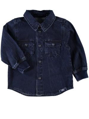 Рубашка NAME IT. Цвет: темно-синий