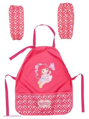Фартук для детского творчества Strawberry Shortcake Action!. Цвет: розовый