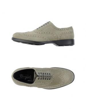 Обувь на шнурках BORGIOLI. Цвет: серый