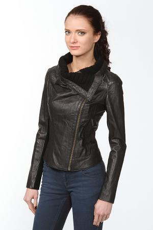Куртка кожаная Malandrino. Цвет: черный