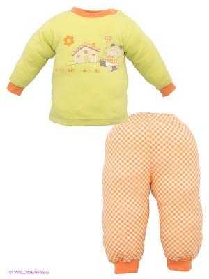 Костюм Лео. Цвет: салатовый, оранжевый, белый