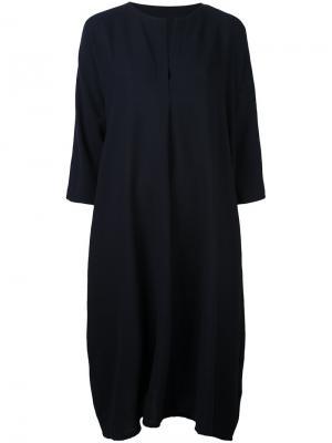 Платье-рубашка свободного кроя Daniela Gregis. Цвет: синий