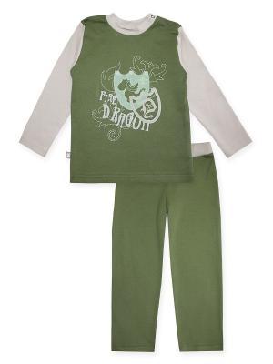 Пижама КОТМАРКОТ. Цвет: зеленый, бежевый