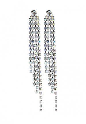 Серьги Diva. Цвет: серебряный