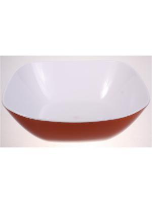 Салатник большой, 1350 мл, оранжевый Радужки. Цвет: оранжевый
