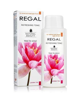 Освежающий тоник для нормального и комбинированного типа кожи REGAL NATURAL BEAUTY, 200мл Болгария. Цвет: зеленый