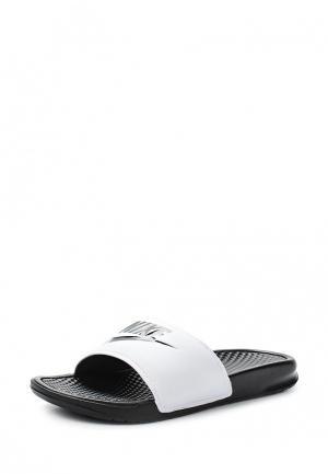 Сланцы Nike. Цвет: белый