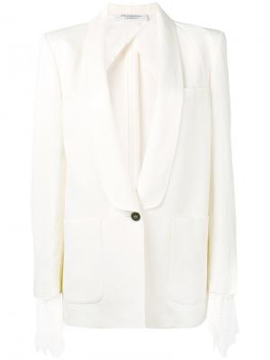 Приталенный пиджак с накладными карманами Philosophy Di Lorenzo Serafini. Цвет: белый