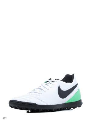 Шиповки TIEMPO RIO III TF Nike. Цвет: белый, черный