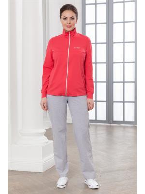 Спортивный костюм CLEO. Цвет: светло-серый, коралловый
