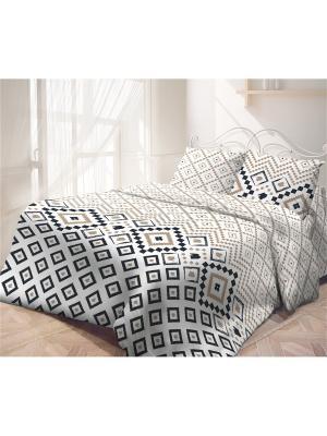 Постельное белье Самойловский текстиль. Цвет: черный, светло-серый