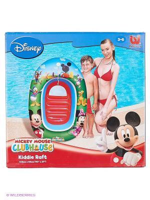 Надувная детская лодка Микки Маус Bestway. Цвет: зеленый, красный