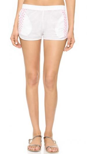 Пляжные шорты Surf Bazaar. Цвет: белый/цветочный