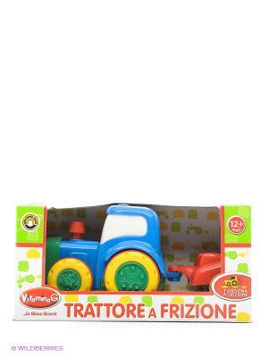 Трактор с прицепом Globo. Цвет: зеленый, красный, желтый
