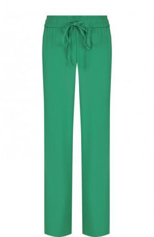 Однотонные брюки прямого кроя с эластичным поясом REDVALENTINO. Цвет: зеленый