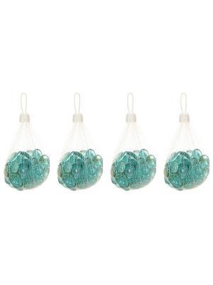Набор декоративных камешков Ягодки EL CASA. Цвет: голубой