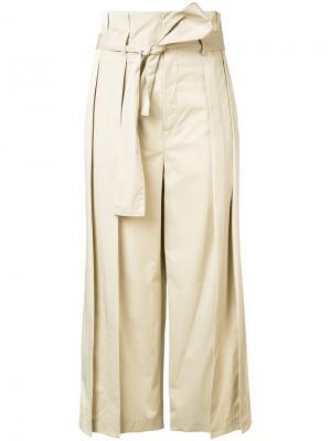 Укороченные брюки Tome. Цвет: телесный