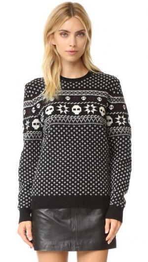 Пуловер Your Boyfriends с жаккардовым узором The Kooples. Цвет: голубой