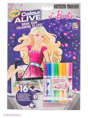 Интерактивная раскраска Colour Alive Барби Crayola. Цвет: фиолетовый