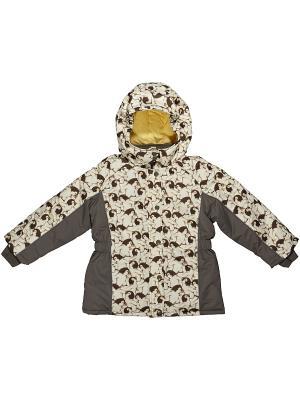 Куртка утепленная ВЕНЕЙЯ. Цвет: хаки