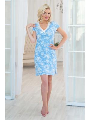 Ночная сорочка Mia Cara. Цвет: голубой
