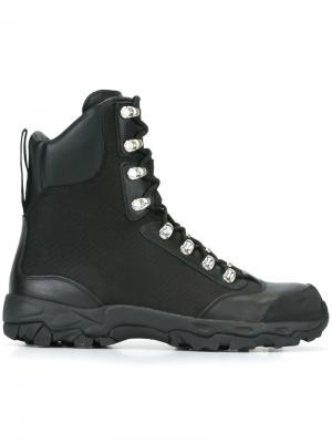 Походные ботинки Marcelo Burlon County Of Milan. Цвет: чёрный