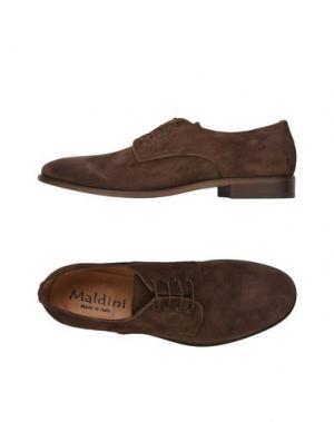 Обувь на шнурках MALDINI. Цвет: темно-коричневый