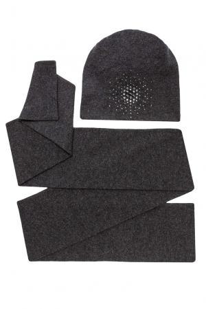 Комплект из шерсти с кристаллами Swarovski (шапка и шарф) 154758 Anna Jollini