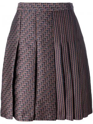 Плиссированная юбка с высокой талией Dvf Diane Von Furstenberg. Цвет: многоцветный